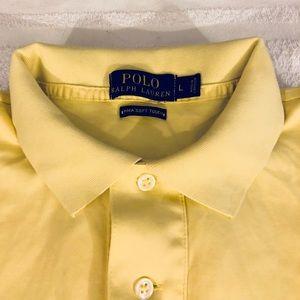 Polo by Ralph Lauren Shirts - Polo Ralph Lauren Yellow Pima Cotton Polo Shirt L